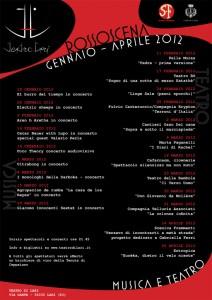 Il manifesto della stagione Rossoscena (gennaio-aprile 2012)