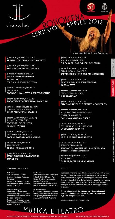 Presentata la stagione invernale Rossoscena Teatro  (gennaio-aprile 2012)