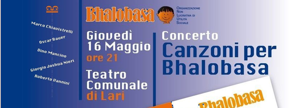 Canzoni per Bhalobasa – Concerto – 16 maggio